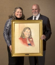 Mary Bea Porter King and Paul Dillon with her portrait