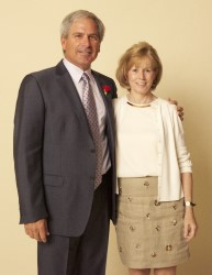 Fred Couples and Jeanne McCooey, former MGA Director of Communications, at the 2014 National Awards Dinner