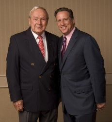 1965 Gold Tee recipient Arnold Palmer and former MGWA President Bruce Beck at the 2009 National Awards Dinner